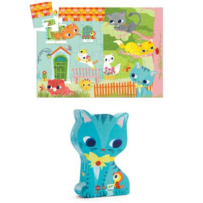 Djeco Pachat the Cat and Friends Puzzle 24pc