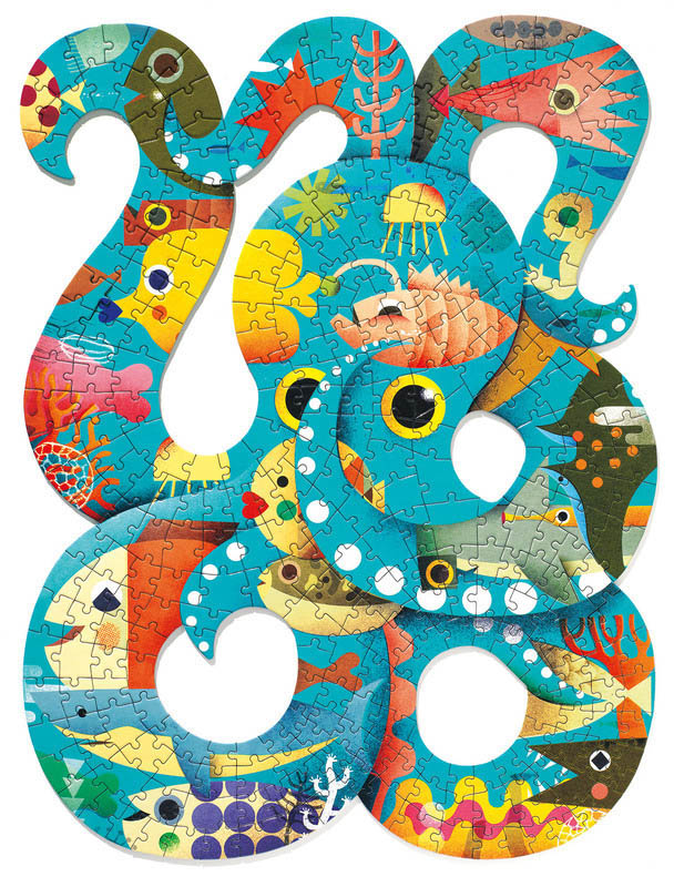 Djeco Puzz Art Octopus Puzzle 350pc