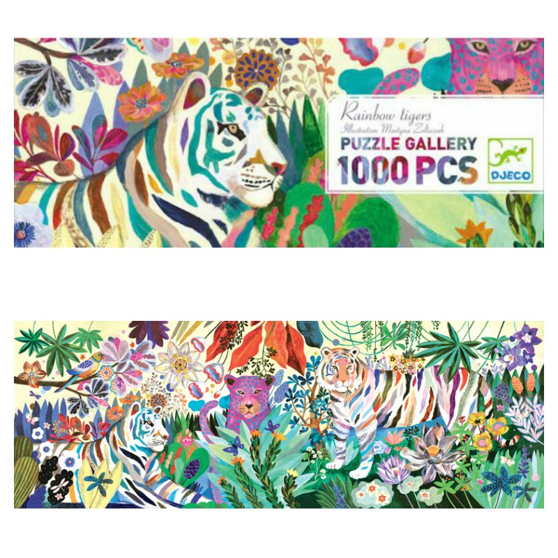 Djeco Rainbow Tigers Gallery Puzzle 1000pcs