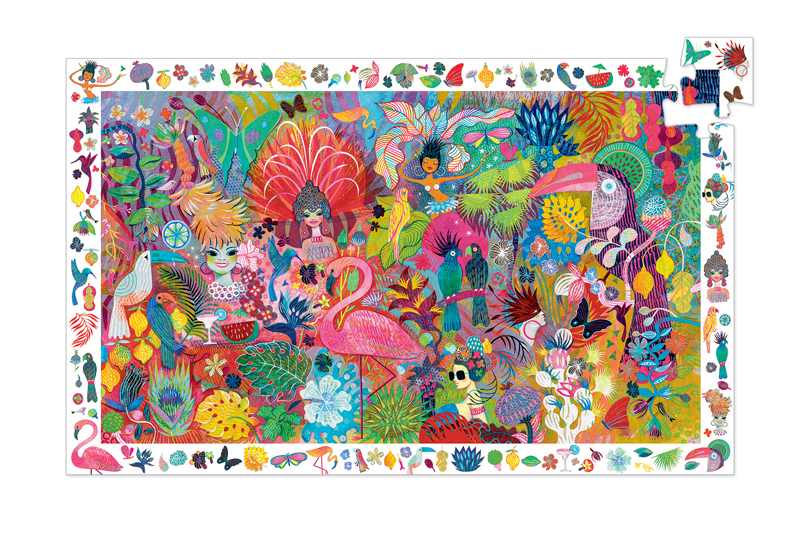 Djeco Rio Carnaval Observation Puzzle 200pc