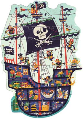 Djeco The Pirate Ship Giant Puzzle 36pc