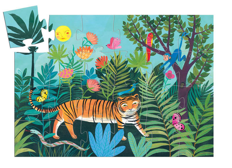 Djeco - The Tiger's Walk 24pc Floor Puzzle