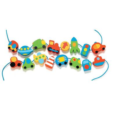 Djeco Vehicle Wooden Beads