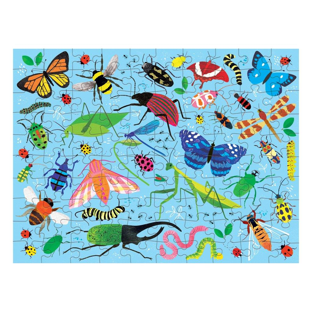 Double Sided Puzzle 100Pc Bugs & Birds