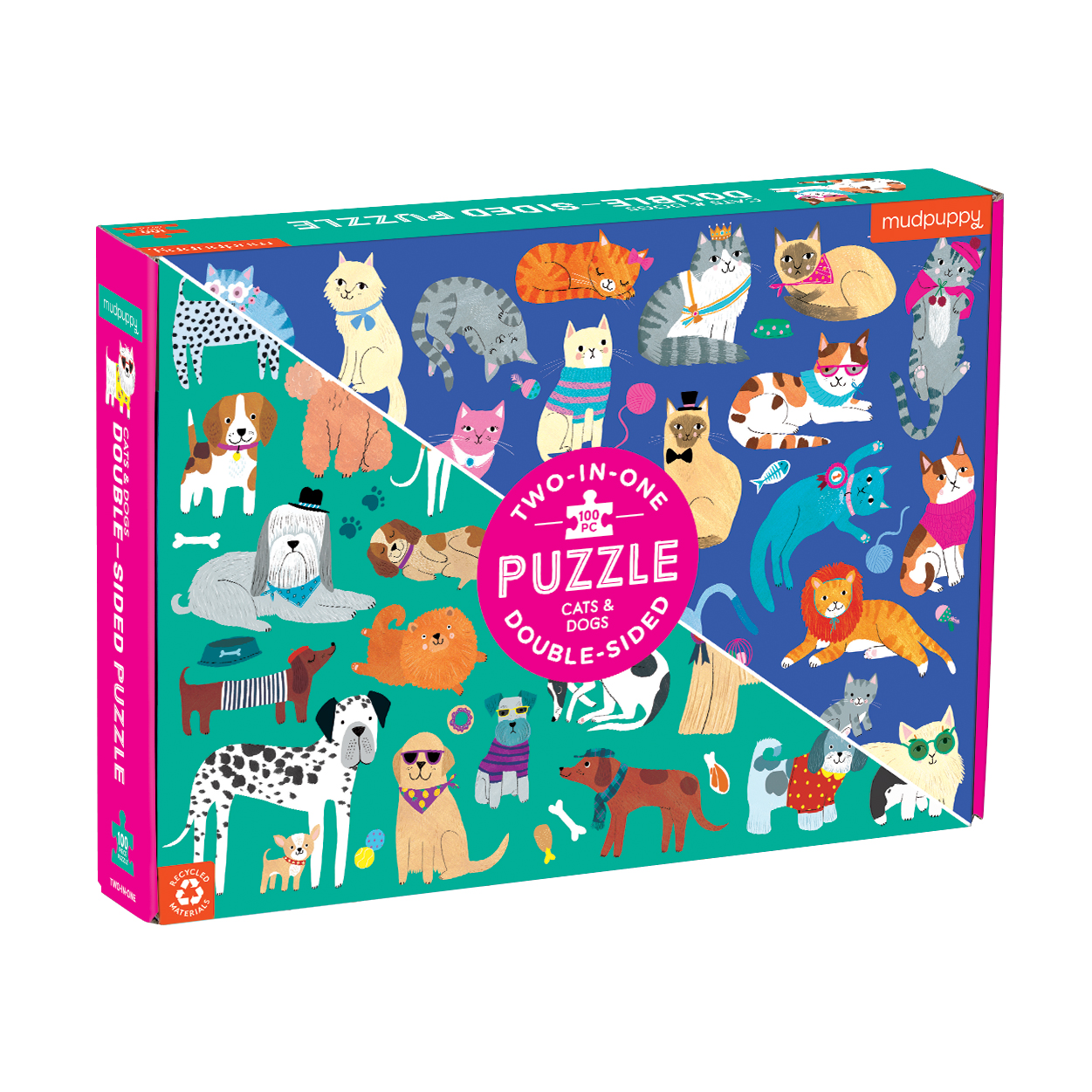 Double Sided Puzzle 100Pc Cats & Dogs