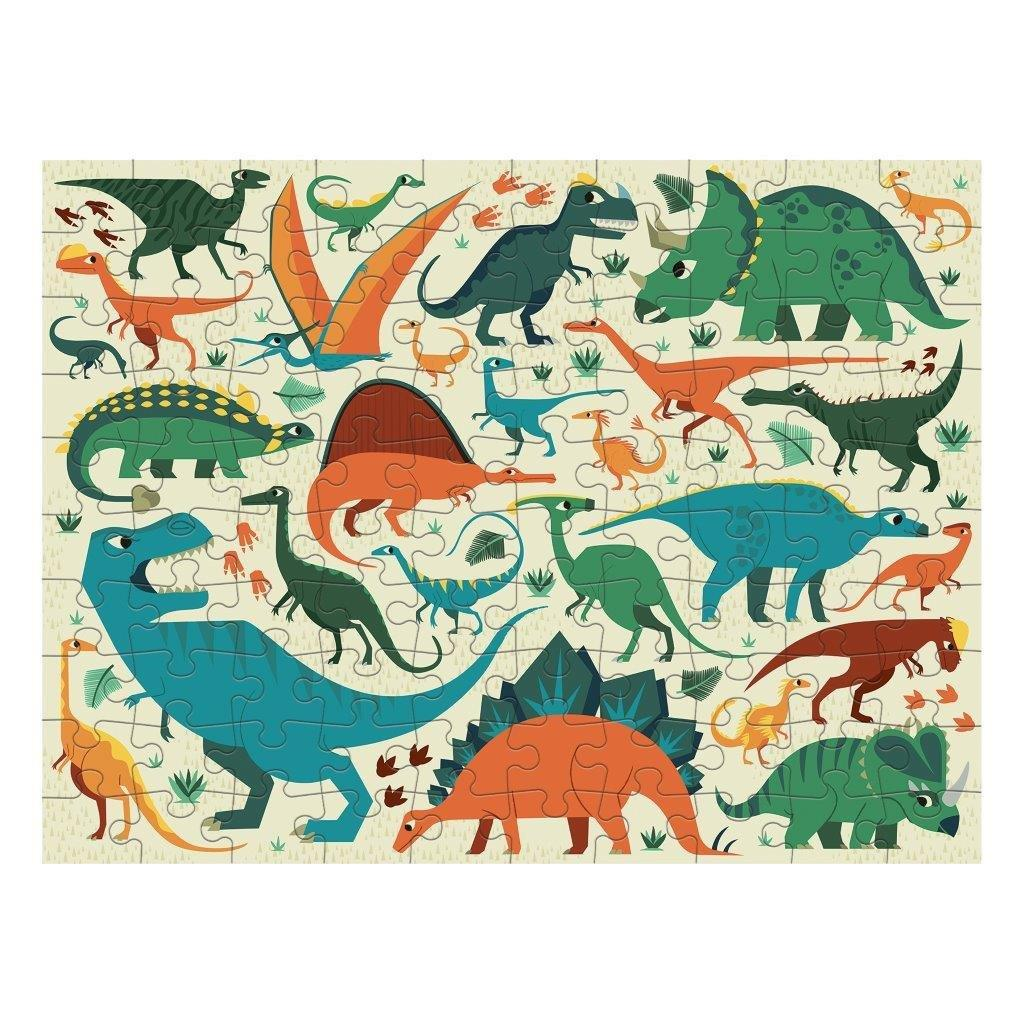 Double Sided Puzzle 100Pc Dinosaur