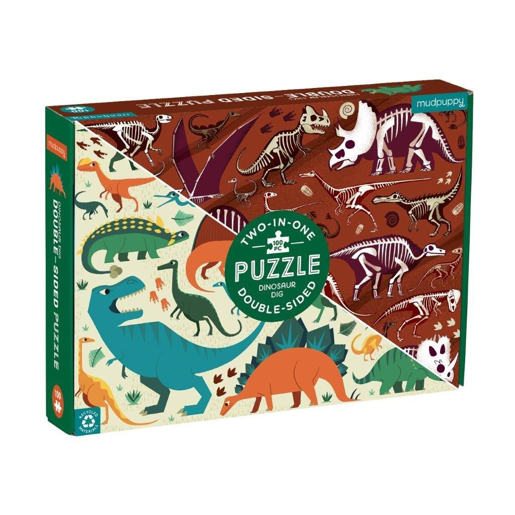 Double Sided Kids Dinosaur Puzzle 100Pc