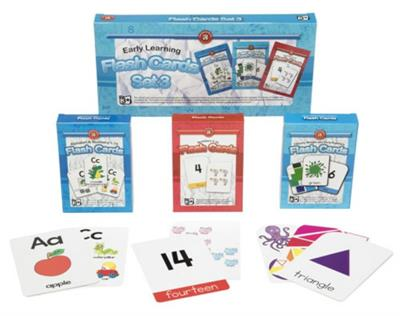 Early Learning Flash Cards Set of 3