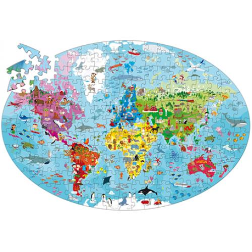 Earth 205pc Oval Puzzle and Book
