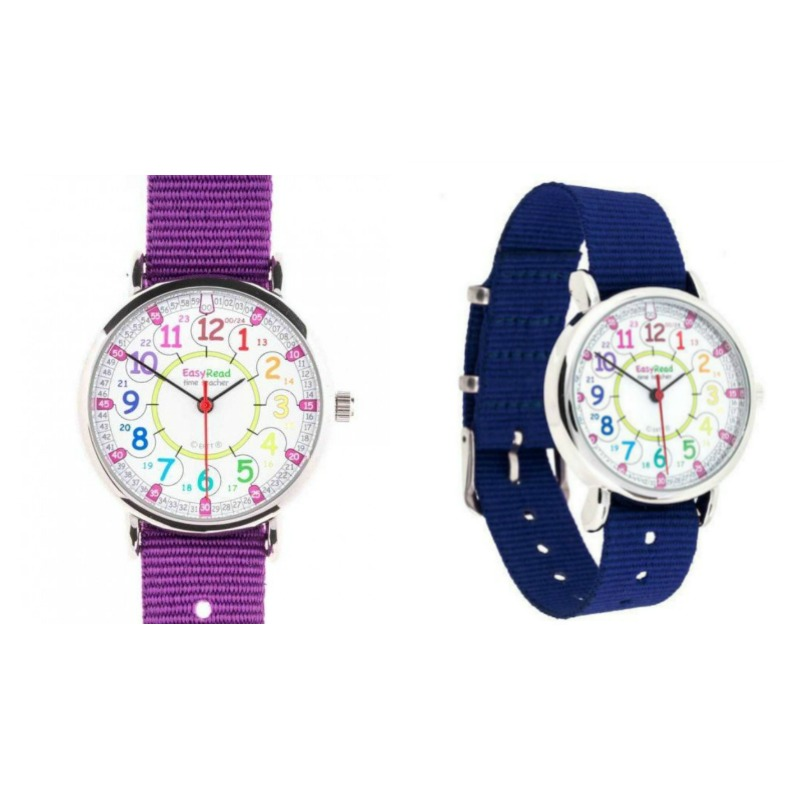 EasyRead Time Teacher Watch 12/24 Hour Rainbow Face | Kids Watch