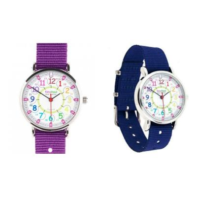 EasyRead Time Teacher 12/24 Hour Rainbow Face Watch