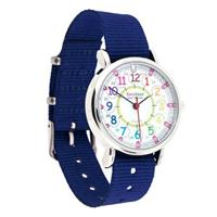 EasyRead Time Teacher Past/To Rainbow Face Watch NAVY