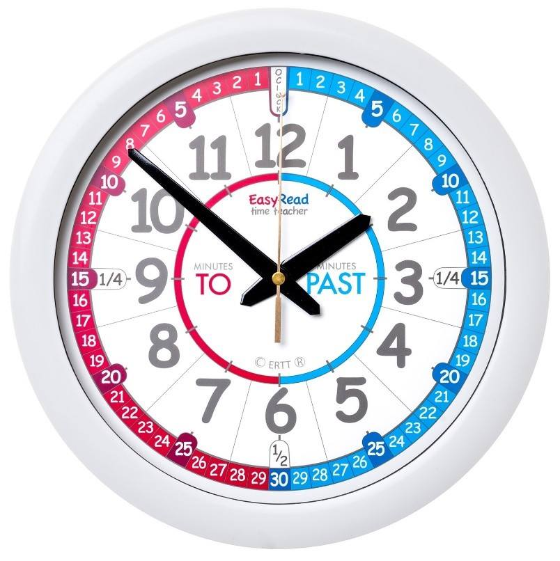 BLUE/RED PastTo Clock