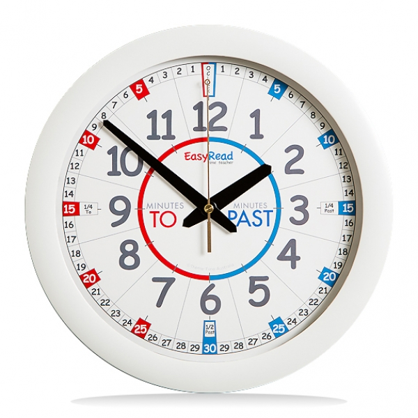 White Past/to wall clock
