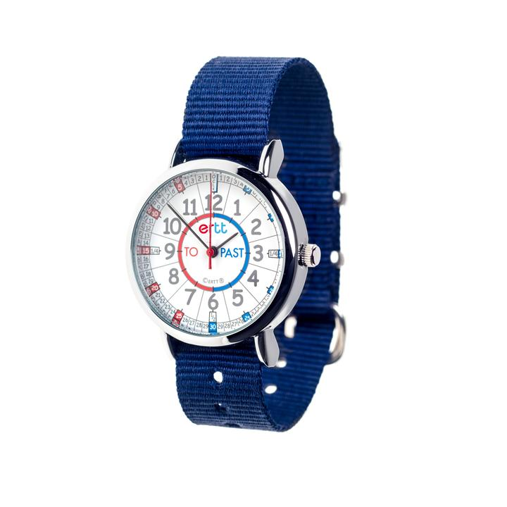 EasyRead Waterproof Time Teacher Past/To Watch - Navy strap