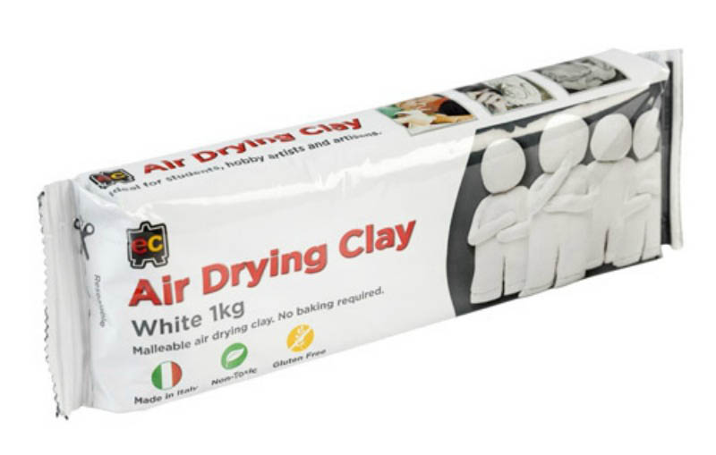 EC - Air Drying Modelling Clay - White 1kg