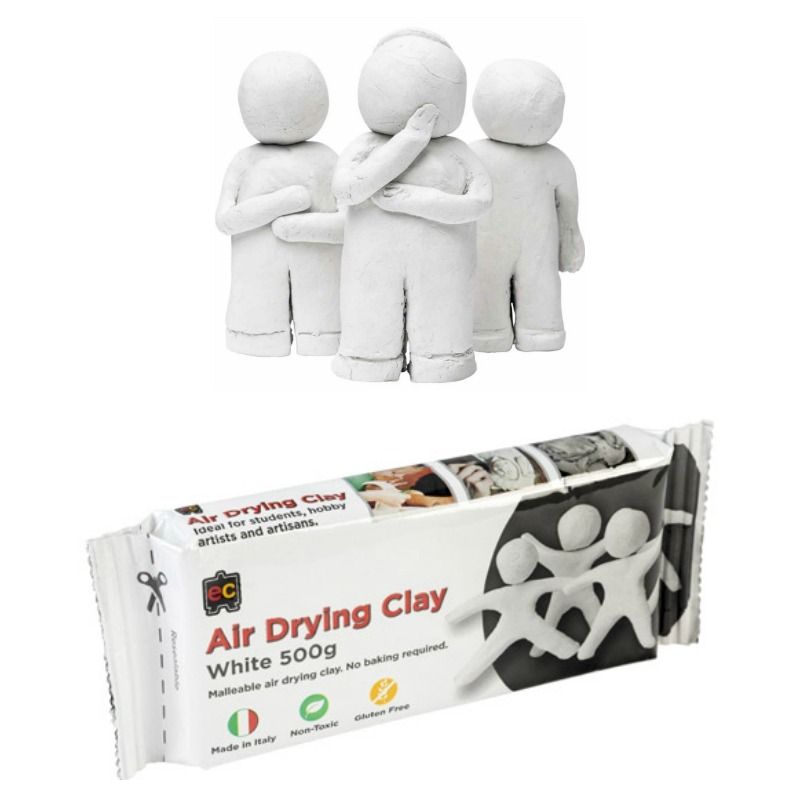 EC Air Drying White Modelling Clay 500g