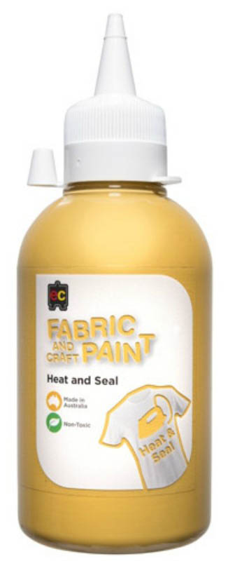 EC - Fabric and Craft Paint 250ml - Heat and Seal - Gold