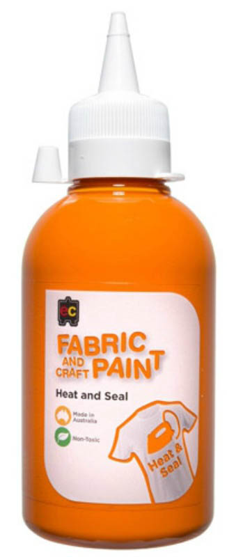 EC - Fabric and Craft Paint 250ml - Heat and Seal - Orange