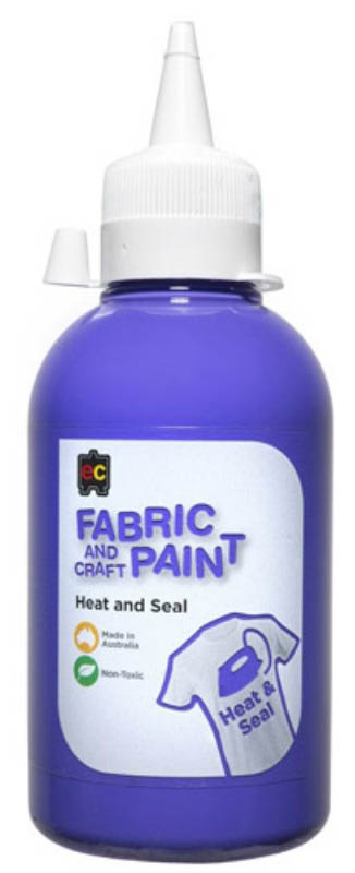 EC - Fabric and Craft Paint 250ml - Heat and Seal - Purple