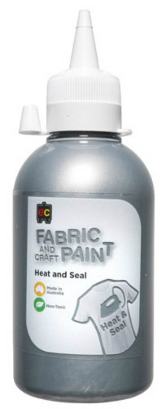 EC - Fabric and Craft Paint 250ml - Heat and Seal - Silver