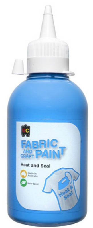 EC - Fabric and Craft Paint 250ml - Heat and Seal - Sky Blue