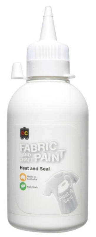 EC - Fabric and Craft Paint 250ml - Heat and Seal - White