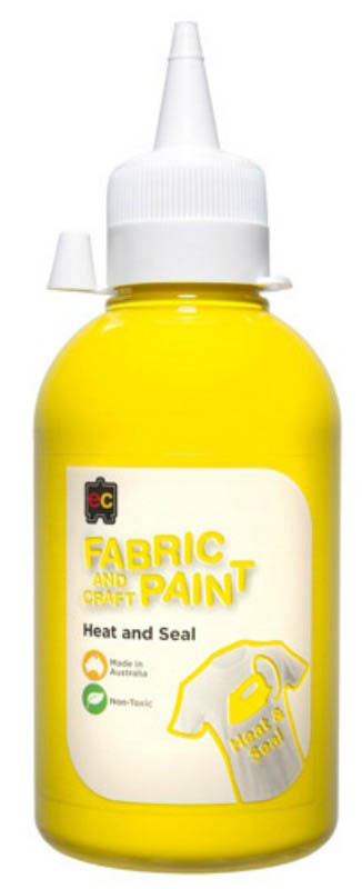 EC - Fabric and Craft Paint 250ml - Heat and Seal - Yellow
