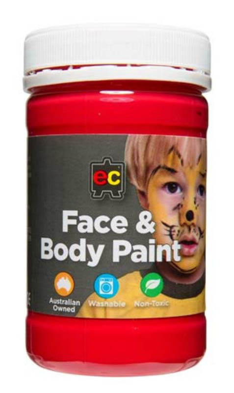 EC - Face and Body Paint - 175ml jar-Red