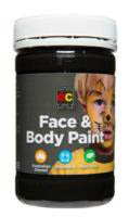 EC - Face and Body Paint - 175ml jar-Black