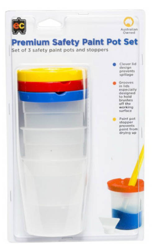 EC - Premium Non-Spill Safety Paint Pot Set