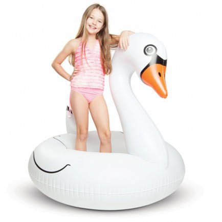 ECD Giant Inflatable White Swan Pool Float