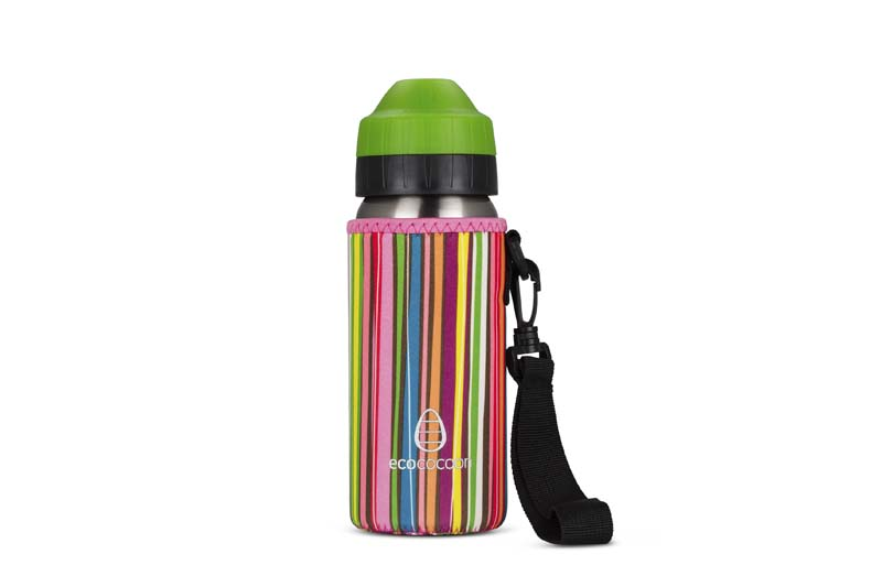 Ecococoon 500ml Bottle Cuddlers  Stripes