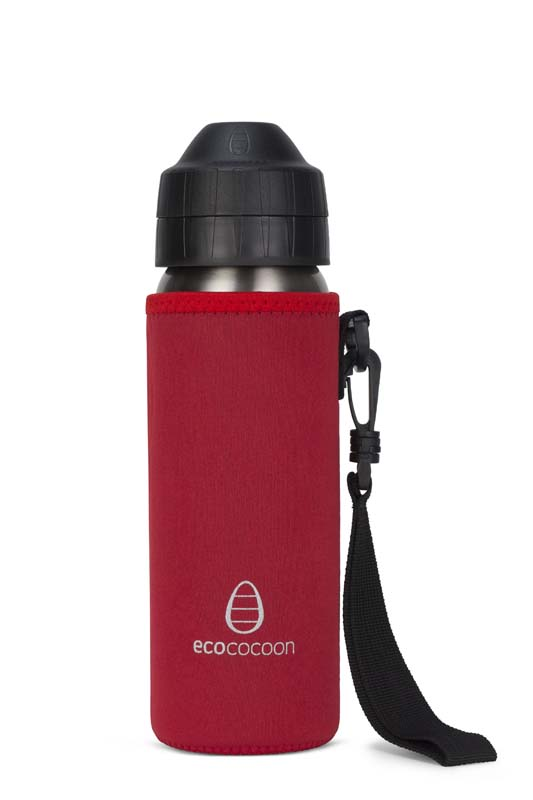 Ecococoon 600ml Bottle Cuddler Ruby Red
