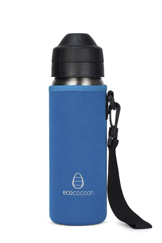Ecococoon 600ml Bottle Cuddler Topaz Blue