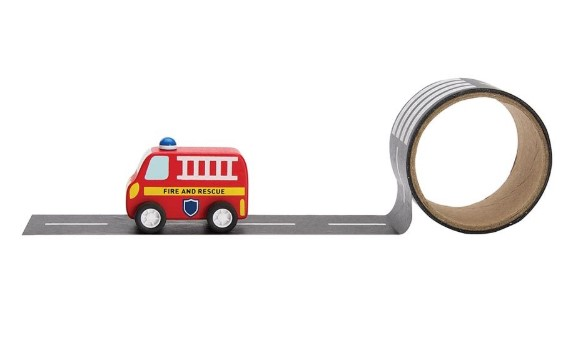 Emergency Rescue - Fire Truck & Reusable Road