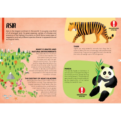 Endangered Species 205pc and Book Asia