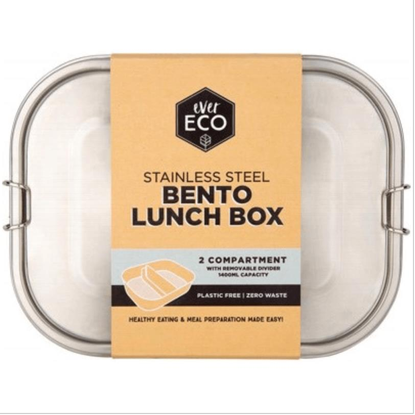 Ever Eco Stainless Steel Bento 2 Compartment Lunch Box
