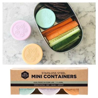 Ever Eco Stainless Steel Pastel Mini Containers