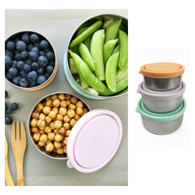 Ever Eco Stainless Steel Pastel Round Nesting Containers