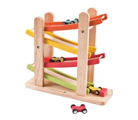 Best Wooden Toys Car Racing Ramp Lime Tree Kids