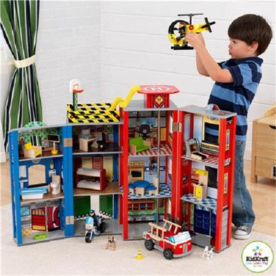 Every Day Heroes Wooden Play set