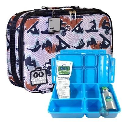 Extreme Sports Go Green Lunch Box Set