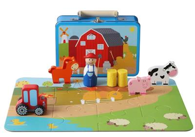 Farm Playset in Tin