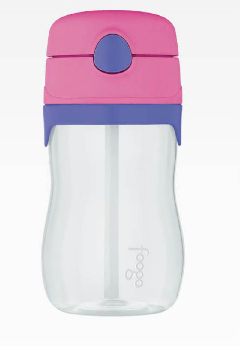 Foogo 325ml Bottle with Straw-PINK (phase3)