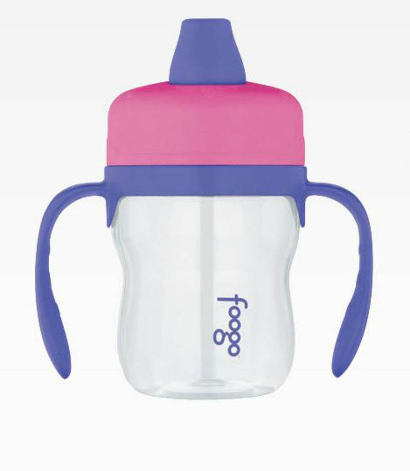 Foogo Soft Spout 235ml Sippy Cup with handles (phase 1) Pink