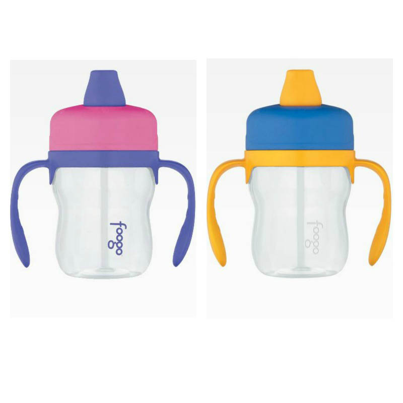 Foogo Thermos Soft Spout 235ml Sippy Cup With Handles Phase1