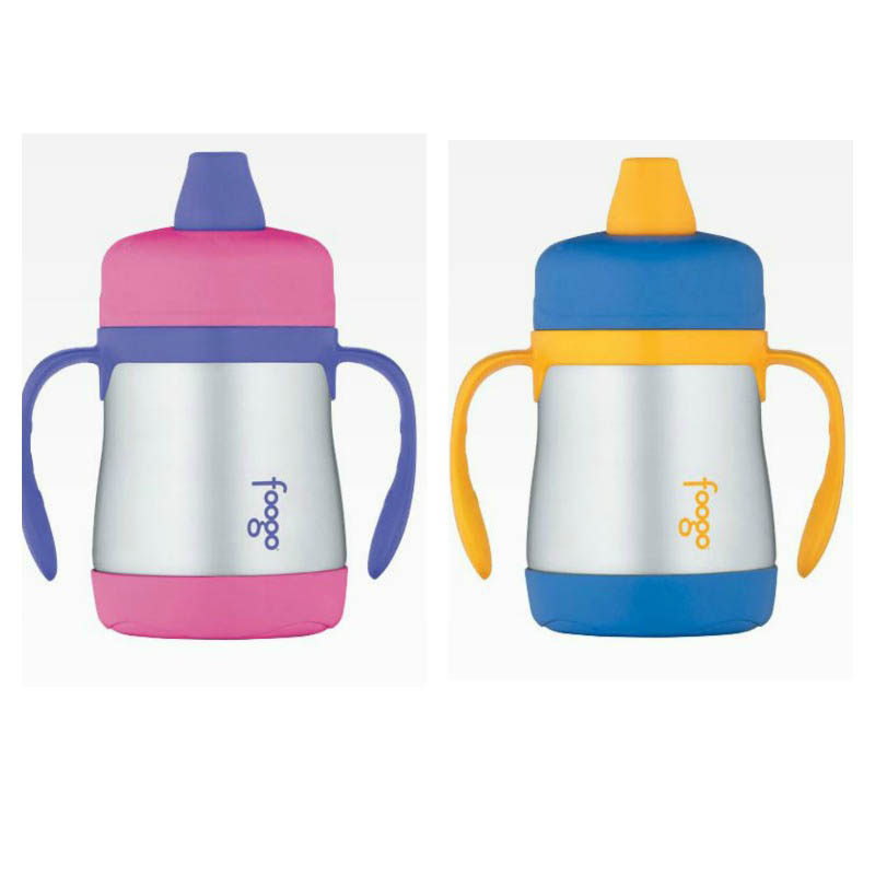 Foogo Thermos Stainless Steel 200ml Soft Spout Sippy Cup Phase1