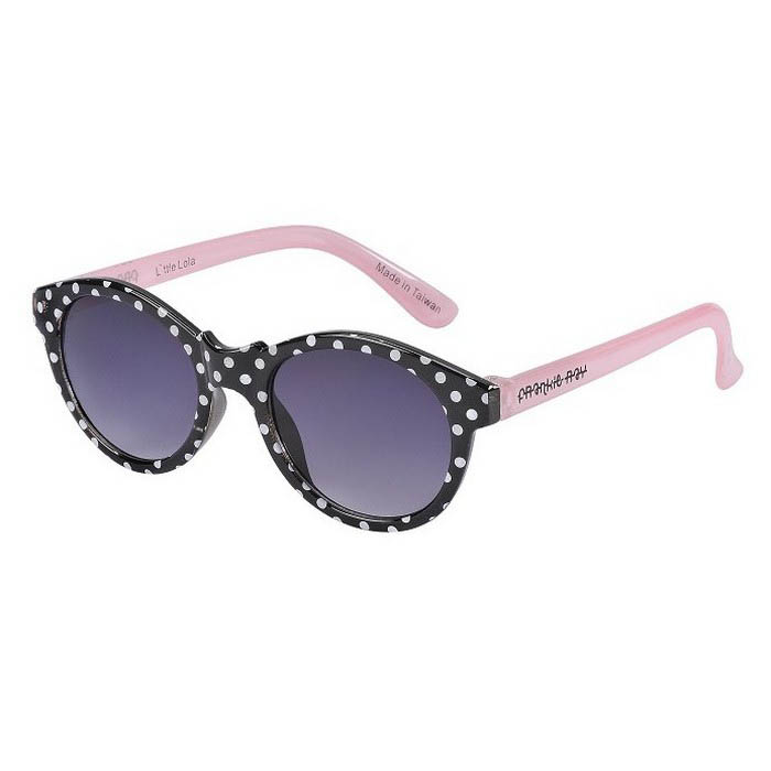 Frankie Ray Sunglasses - 0-18 months - Minnie Gidget ( Black + White Polkadot)