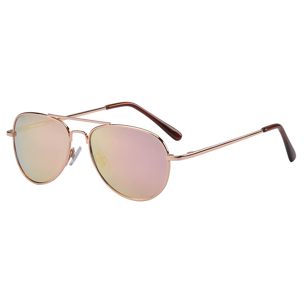 Frankie Ray Sunglasses - 3 years + - Jet Aviator (Rose Gold)